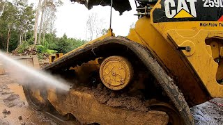 Pressure Washing the Dirtiest Skid Steer Ever | Andrew Camarata Style !