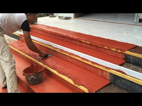 How To Install Natural Stone On Step Porch - Amazing Contruction Worker Creative Satisfying