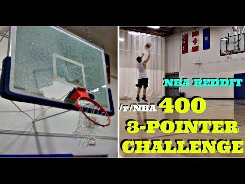NBA REDDIT - 400 3-POINTER CHALLENGE ATTEMPT (BROKE The BASKETBALL NET!) :: R/NBA