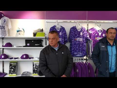 Cearta între Ionică și Apostoliceanu la deschiderea magazinului de prezentare al clubului FC Argeș