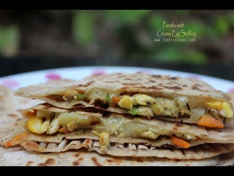 Paratha with Creamy Egg Stuffing