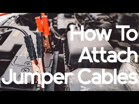 order to hook up jumper cables