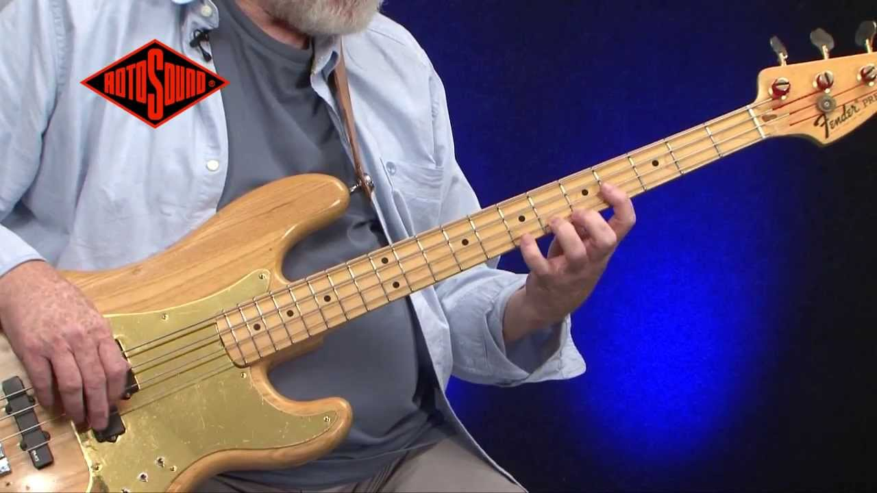 mo foster rotosound jazz bass 77 bass guitar strings youtube. Black Bedroom Furniture Sets. Home Design Ideas
