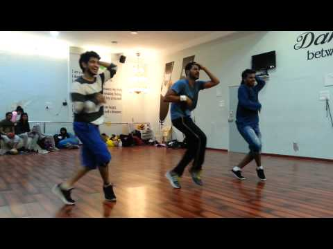 HAPPY HOUR PRABHUDEVA SIR  rehearsing with RAHUL N PAUL ABCD2
