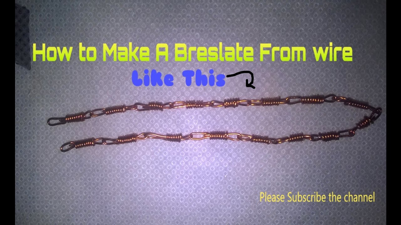Natural Beauty II How To Make a Breslate From wire || - YouTube