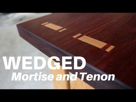 How To Make a WEDGED By Mortise and Tenon | Woodworking