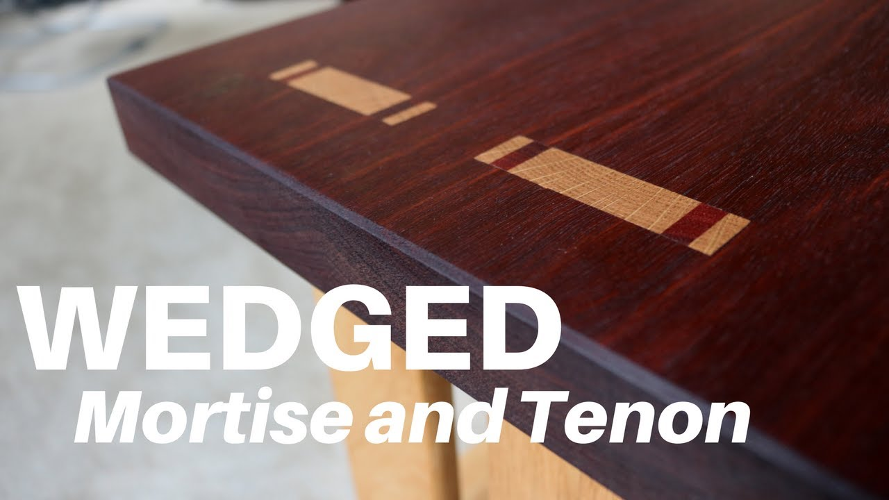 How To Make A Wedged Through Mortise And Tenon Woodworking