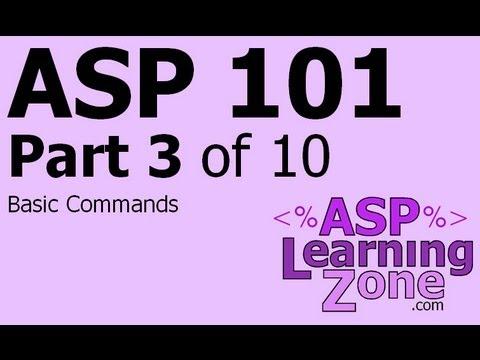 Active Server Pages Tutorial ASP 101 Part 03 of 10: Basic Commands