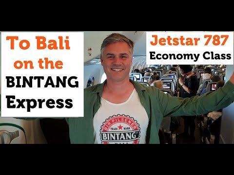 To Bali On The Bintang Express -  Jetstar 787 Economy Class