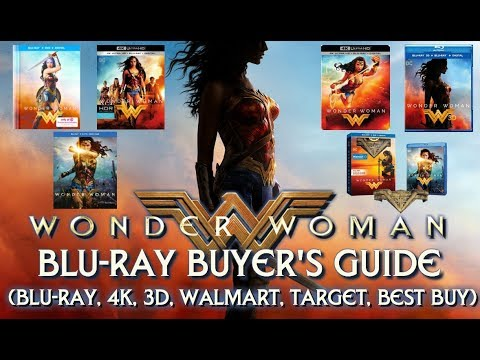 WONDER WOMAN - BLURAY/4K UNBOXING (BLURAY, 4K, 3D, BEST BUY, WALMART, TARGET) - BLURAY BUYERS GUIDE