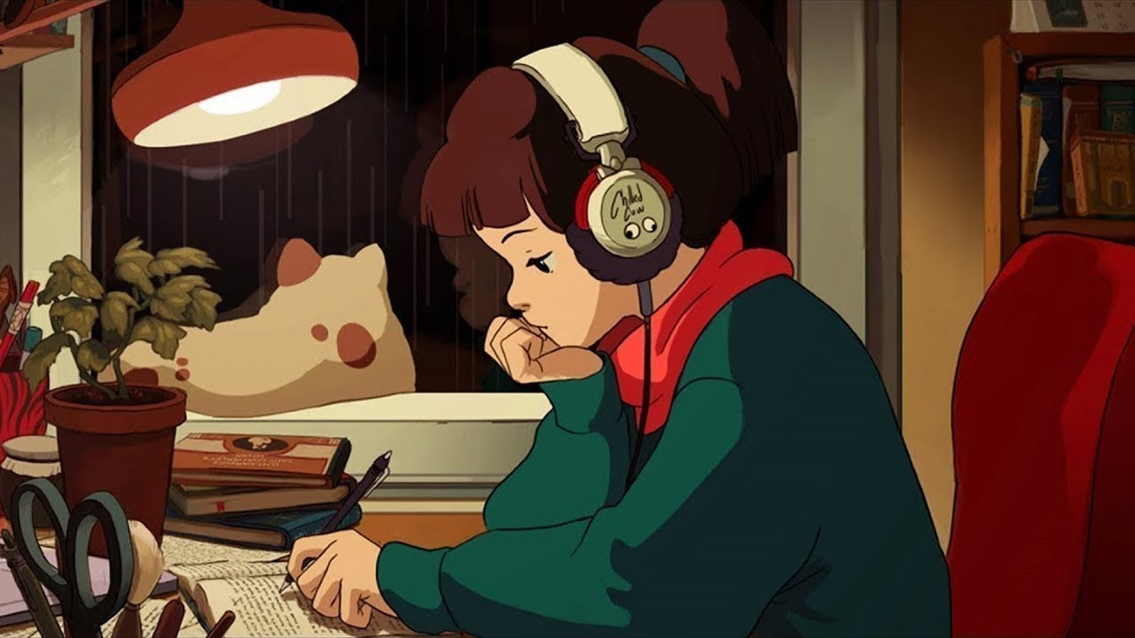 Lo-Fi Hip-Hop Radio Beats Girl.