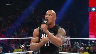 The Rock responds to CM Punk and Paul Heyman: Raw, Jan 21, 2013