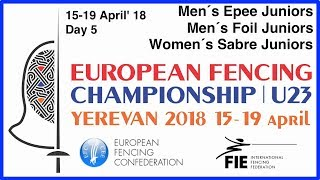 Day 05 2018 European fencing championships U23 - Blue