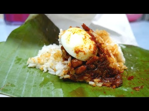 Eating traditional NASI LEMAK - famous food in Malaysia | Food and Travel Channel | Kuala Lumpur
