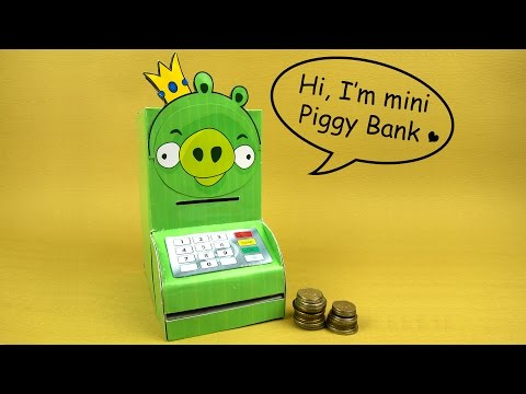 How to make an ATM PIGGY BANK with Secured Card - Just5mins