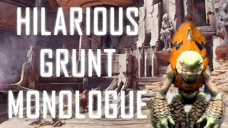 Hilarious Grunt Monologue - Halo 5 Easter Egg