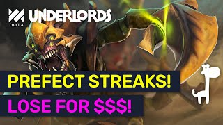 PREFECT LOSING STREAK! How To Comeback With $$$! | Dota Underlords