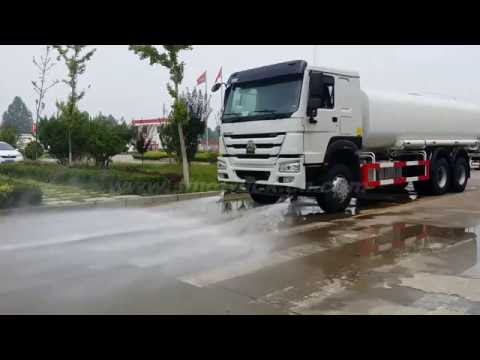 HOWO water tank truck tanker sprinkling sprinkler truck China