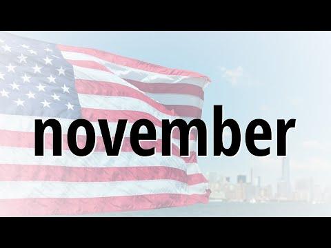 Correct spelling for november