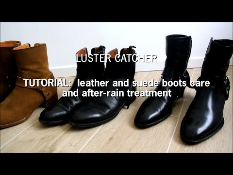 Tutorial  Leather and Suede boots care and afterrain treatment