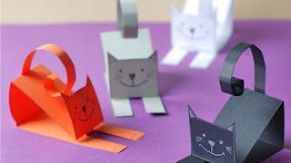 Аппликация своими руками. Делаем котёнка из бумаги.
