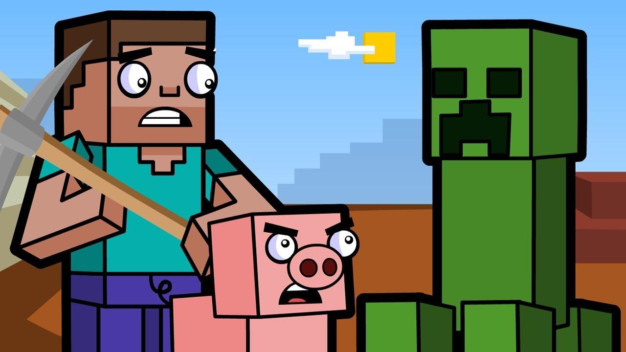 Creeper Cave & Diamonds  Block Squad (Minecraft Animation)