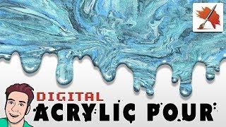 Digital ACRYLIC POUR with Corel Painter