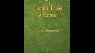 emerald tablets of hermes