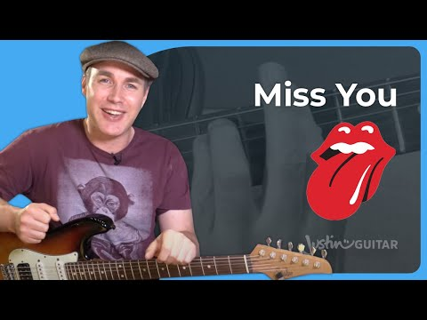 Miss You - The Rolling Stones - Funk Disco Guitar Lesson Tutorial (ST-369)