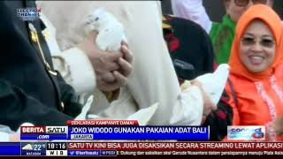 Keren! Jokowi Kenakan Pakaian Adat Bali, Prabowo Jawa