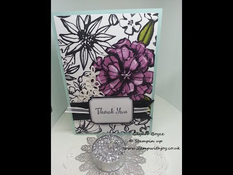 Petal palette thank you card from the new spring summer catalog 2018 stampin up x