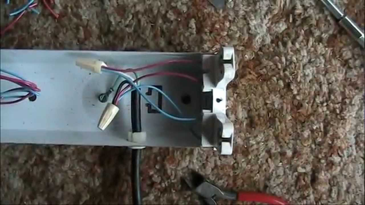 Convert A Fluorescent Tube Fixture To Led Youtube Dual Powered Lighting Circuit