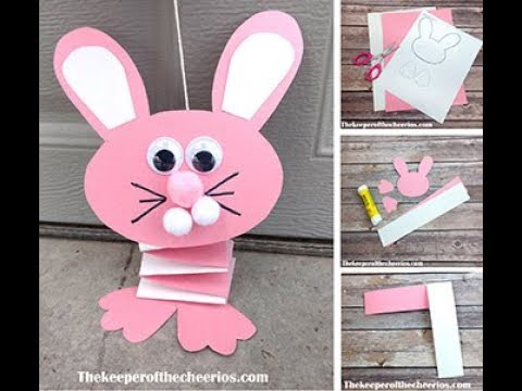 Bouncing Paper Bunny Easter Craft