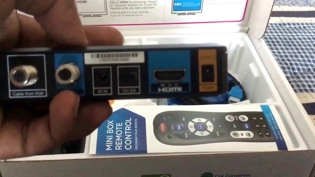 A Look Inside This Mini Box From Cox Youtube