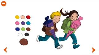 Sami Apps - Antonia and Ole - First Day at school - with learning Activities: learn to write