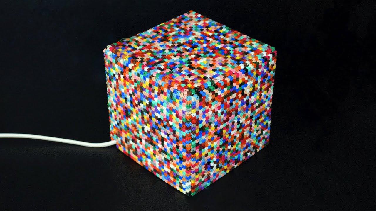 Bügelperlen-Lampe Basteln