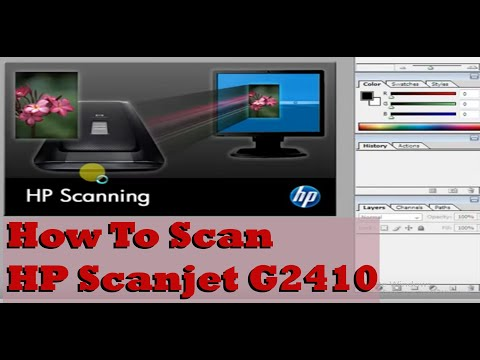 How To Scan HP Scanjet G2410 - YouTube