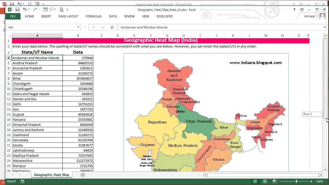 also geographic heat map for india in excel youtube rh