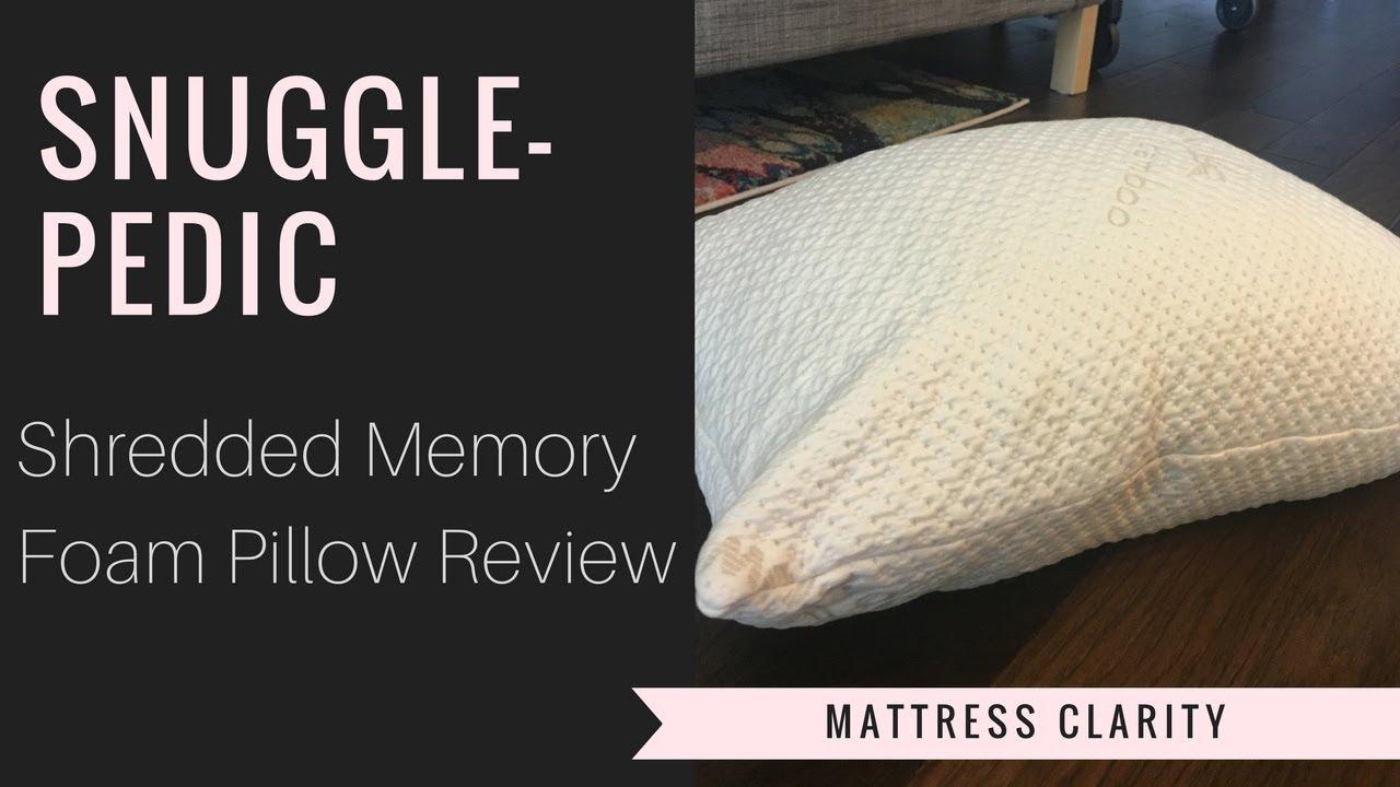 snuggle pedic pillow review adjustable shredded memory foam