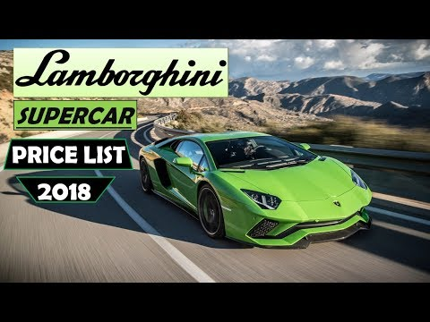 Lamborghini Car Price List 2018 Youtube