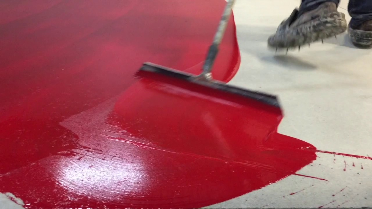 How To Do A Red Epoxy Floor Youtube