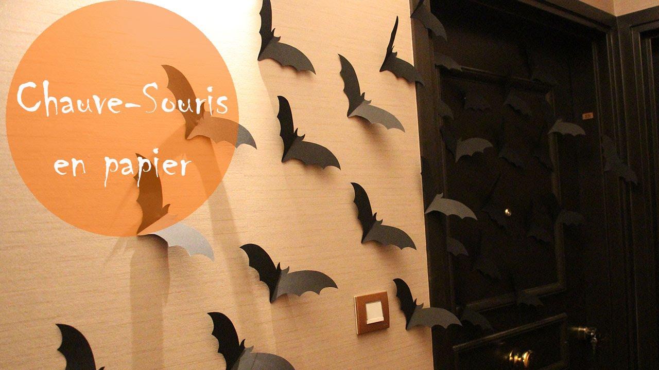 halloween chauve souris en papier youtube. Black Bedroom Furniture Sets. Home Design Ideas