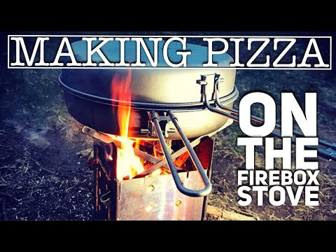 Making Pizza on the Firebox Stove