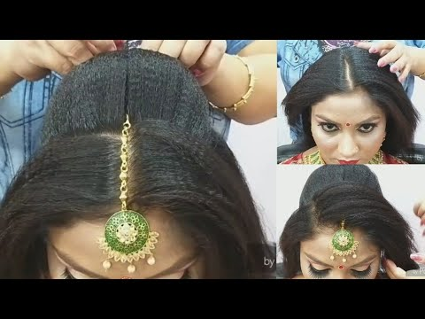 Advance Juda bridal hairstyle step by step// easy & simple method for beginner//2019// thumbnail