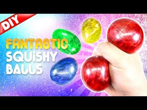 DIY Fantastic Liquid Squishy Balls! Glitter Liquid Stress Balls!