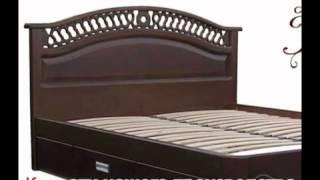 видео Купить деревянную кровать с матрасом недорого