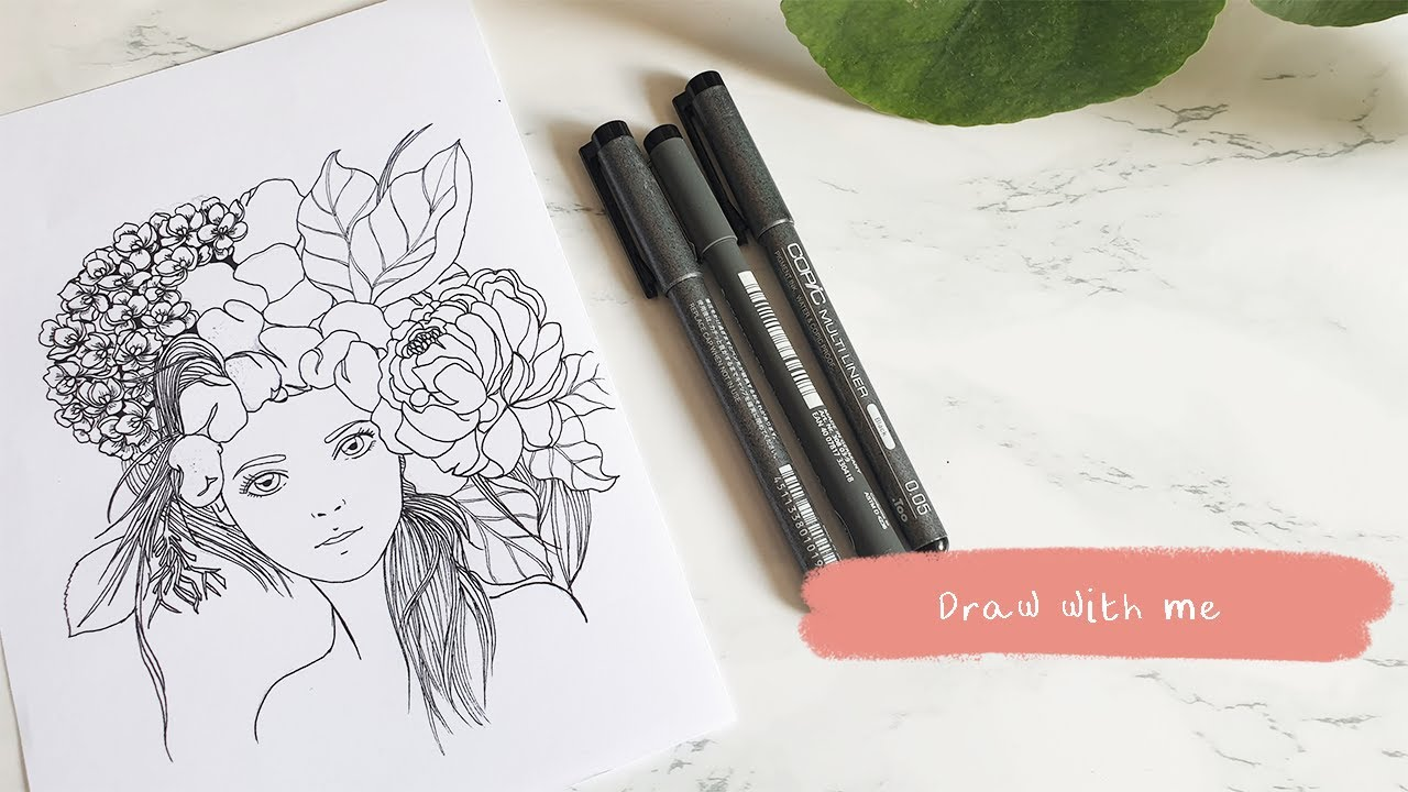 ★ Sketch & Lineart ★ [Flowers]