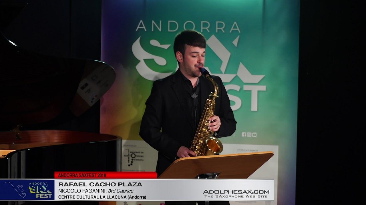 Andorra SaxFest 2019 1st Round   Rafael Cacho Plaza   3rd Caprice by Niccolo Paganini