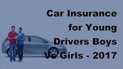Car Insurance for Young Drivers Boys Vs Girls -  2017 Car Insurance Policy Coverage