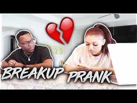 BREAKING UP WITH WIFE ON APRIL FOOLS DAY PRANK!! (BACKFIRES)
